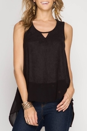 She + Sky Faux Suede Tank - Product Mini Image