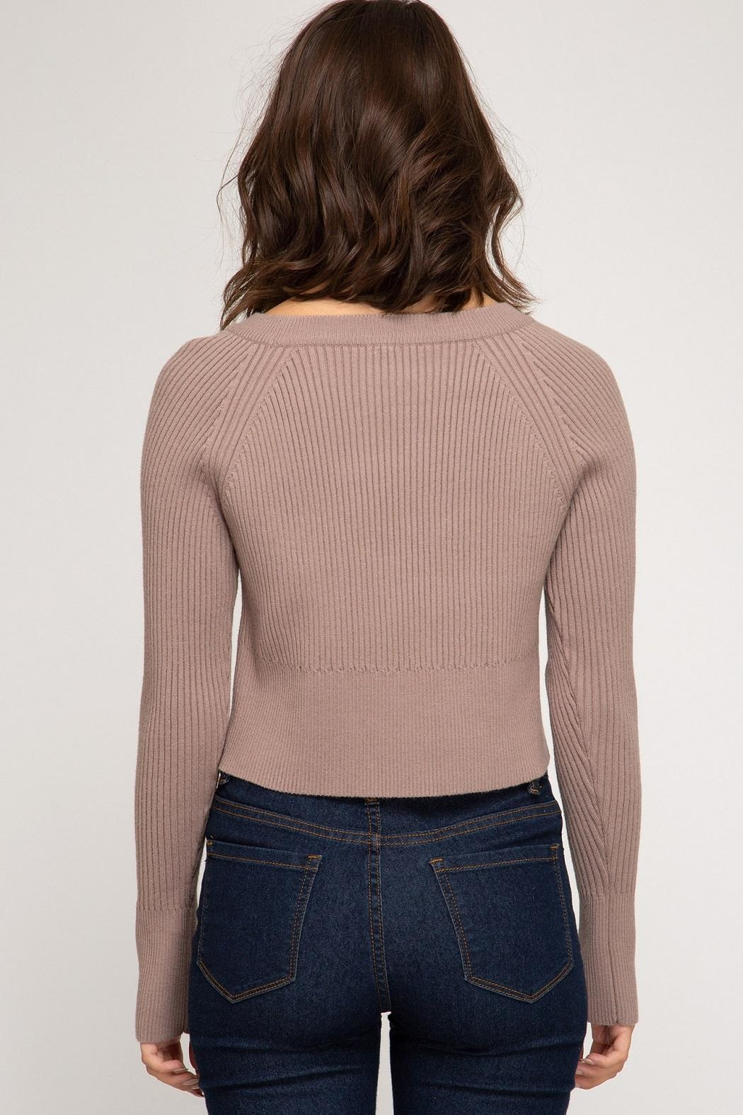 She + Sky Fawn Sweater - Front Full Image