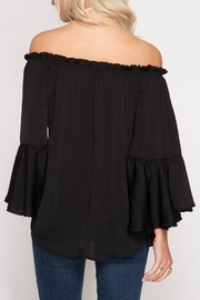 She + Sky Fiona Off Shoulder Top - Front full body