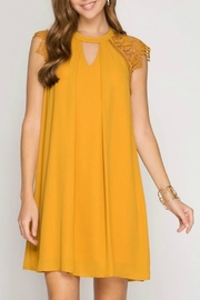 She + Sky Fiona Sunflower Dress - Front cropped