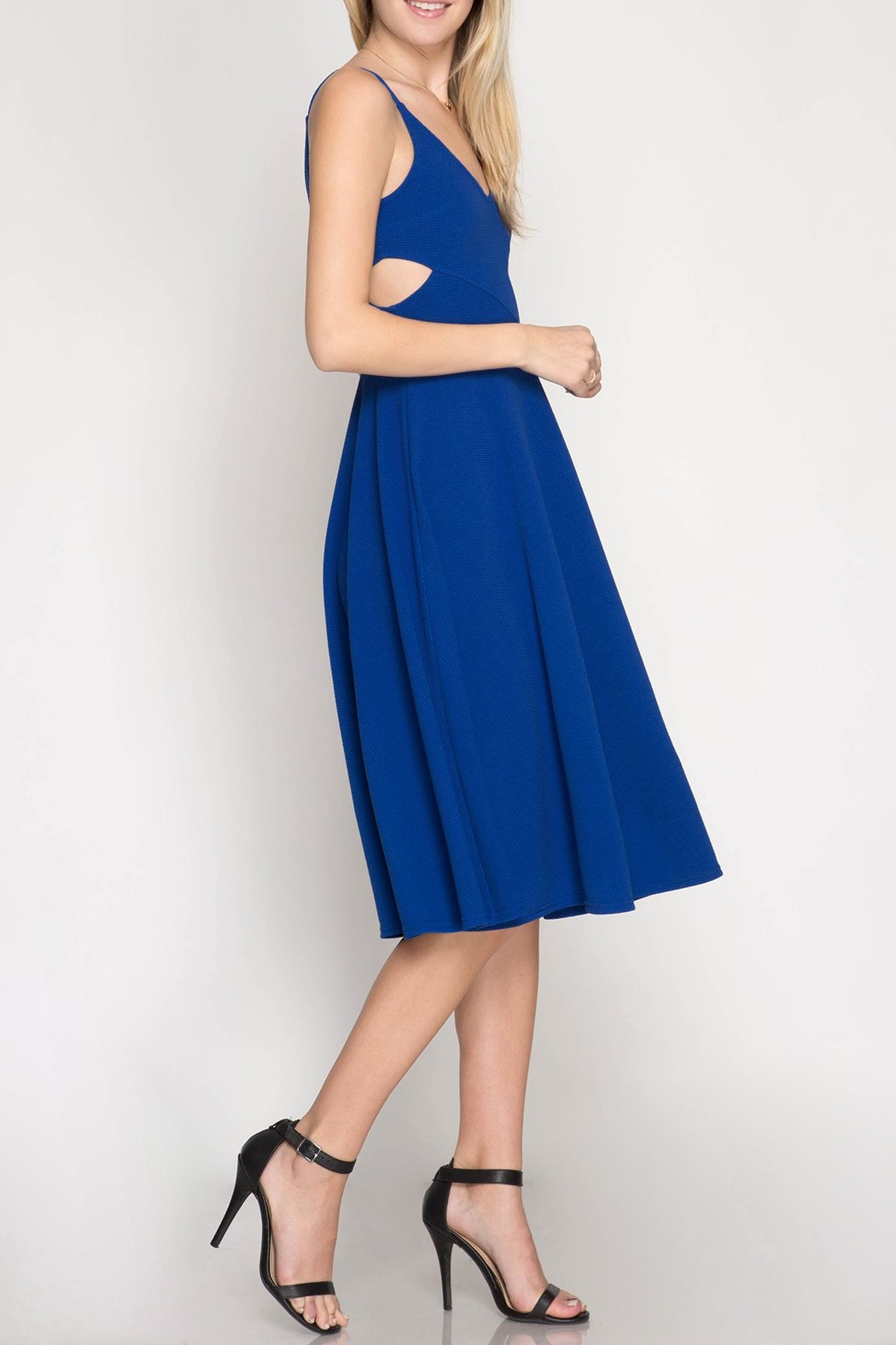 She + Sky Fit & Flare Dress - Front Full Image