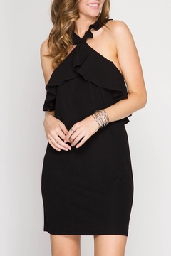 Shoptiques Product: Fitted Ruffle Dress