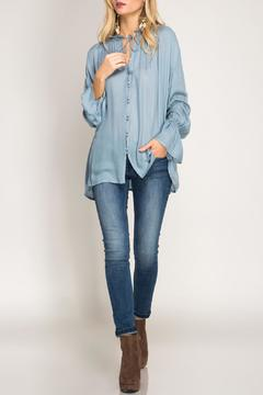 Shoptiques Product: Flare-Sleeve Button-Down Blouse