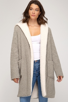 She + Sky Fleece Pocket Coat - Product List Image