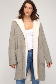 She + Sky Fleece Pocket Coat - Product Mini Image