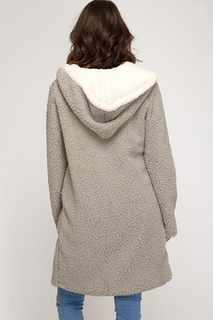She + Sky Fleece Pocket Coat - Alternate List Image