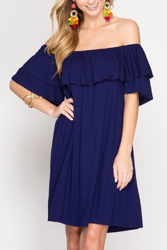 Shoptiques Product: Flirty Off The Shoulder Dress