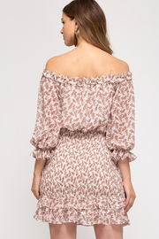 She + Sky Floral Blossoms Dress - Back cropped