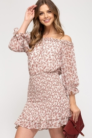 She + Sky Floral Blossoms Dress - Front full body