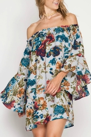 She + Sky Floral Dress - Front cropped