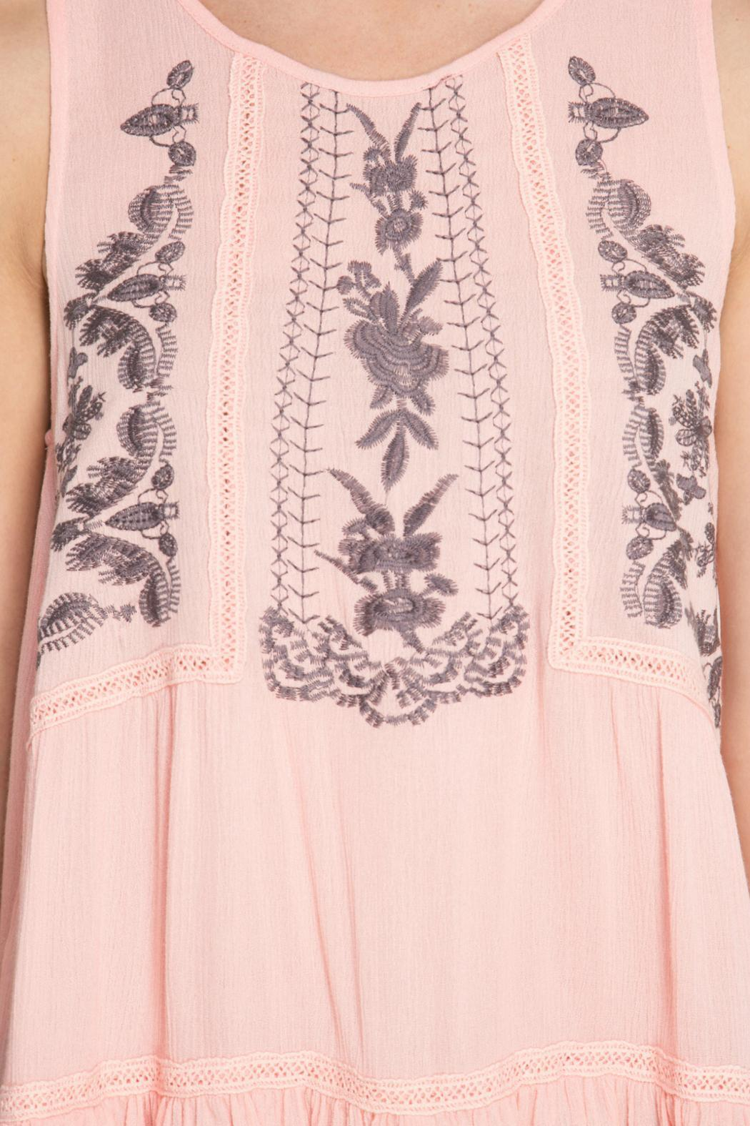 She + Sky Floral Embroidered Top - Front Full Image