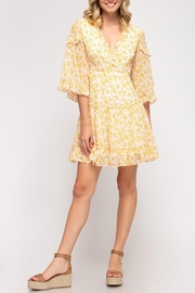 She + Sky Floral Lace Back Dress - Product Mini Image