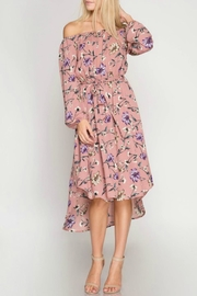 She + Sky Floral Midi Dress - Product Mini Image