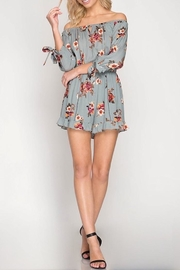 She + Sky Floral Romper - Product Mini Image