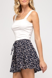 She + Sky Floral Flutter Skirt - Product Mini Image