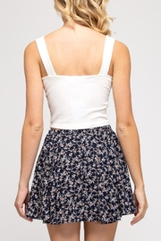 She + Sky Floral Flutter Skirt - Back cropped