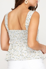 She + Sky Floral Tie Front Tank - Side cropped