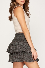 She + Sky Floral Tiered Skirt - Product Mini Image
