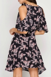 She + Sky Floral Wrap Dress - Front full body