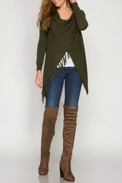 Shoptiques Product: Fringe Asymmetrical Cardigan
