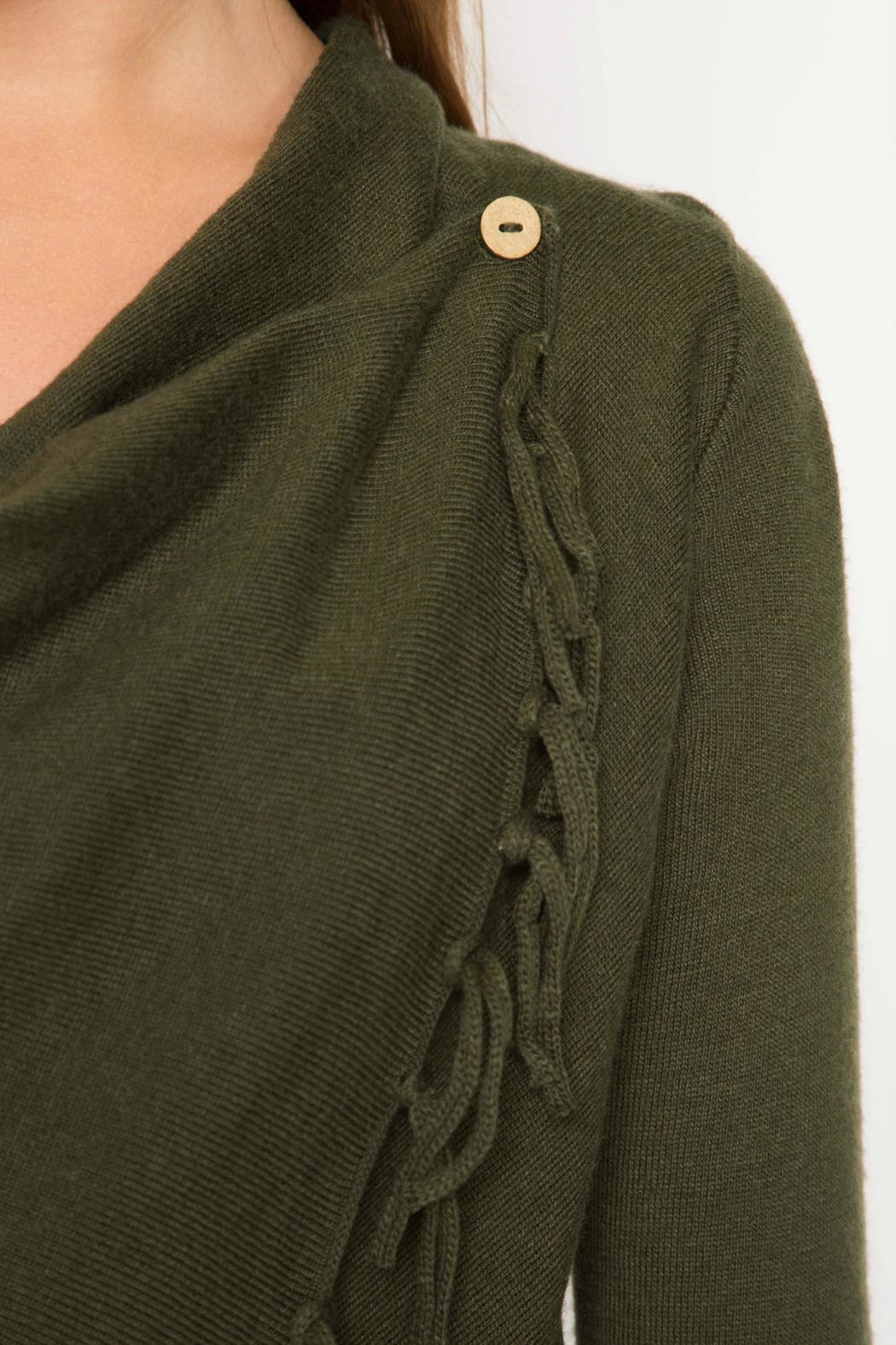 She Sky Fringe Asymmetrical Cardigan From Long Island By Epic