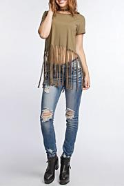 She + Sky Fringed Crop Top - Product Mini Image