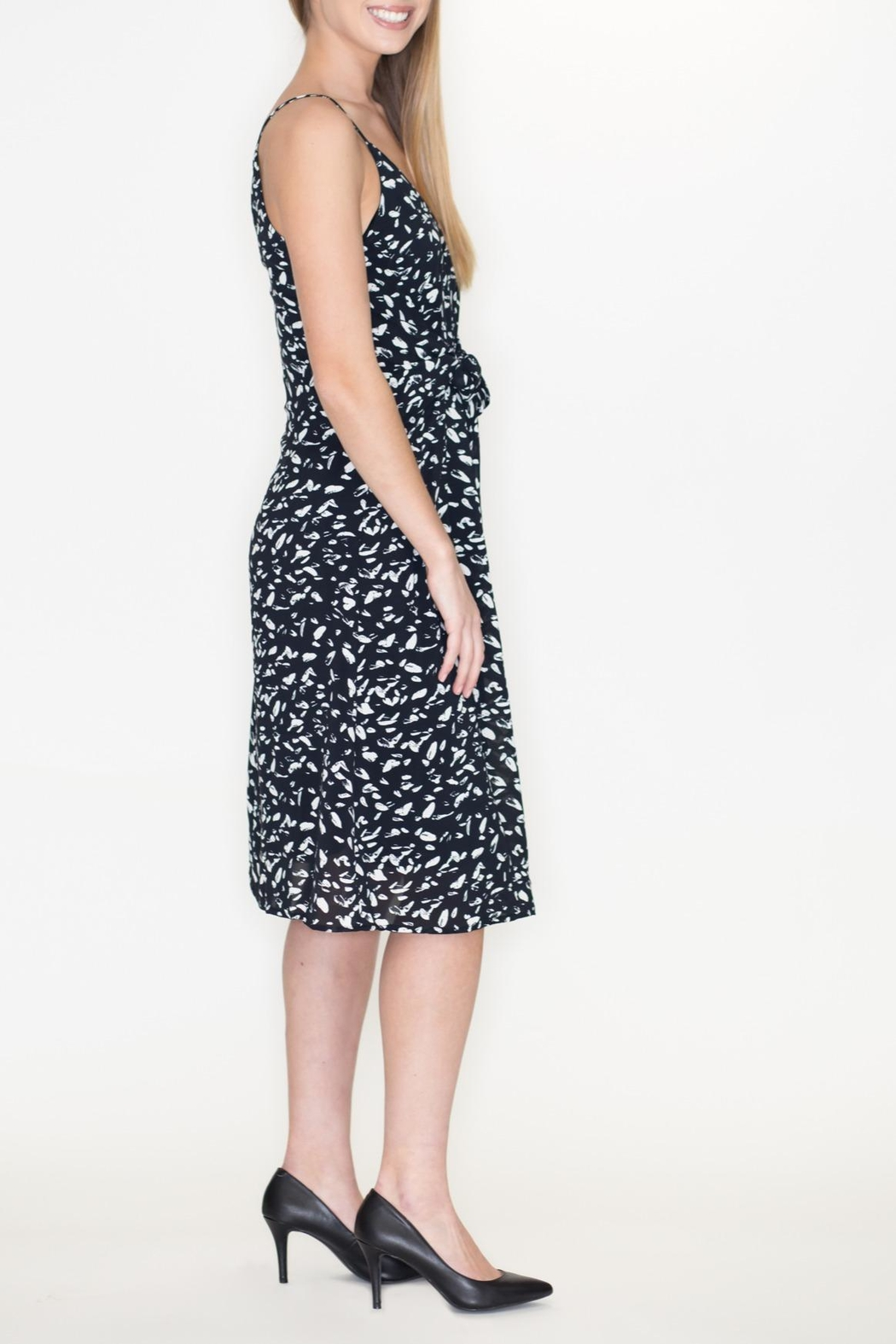 She + Sky Front Tie Dress - Front Full Image