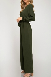 She + Sky Front Tie Jumpsuit - Back cropped
