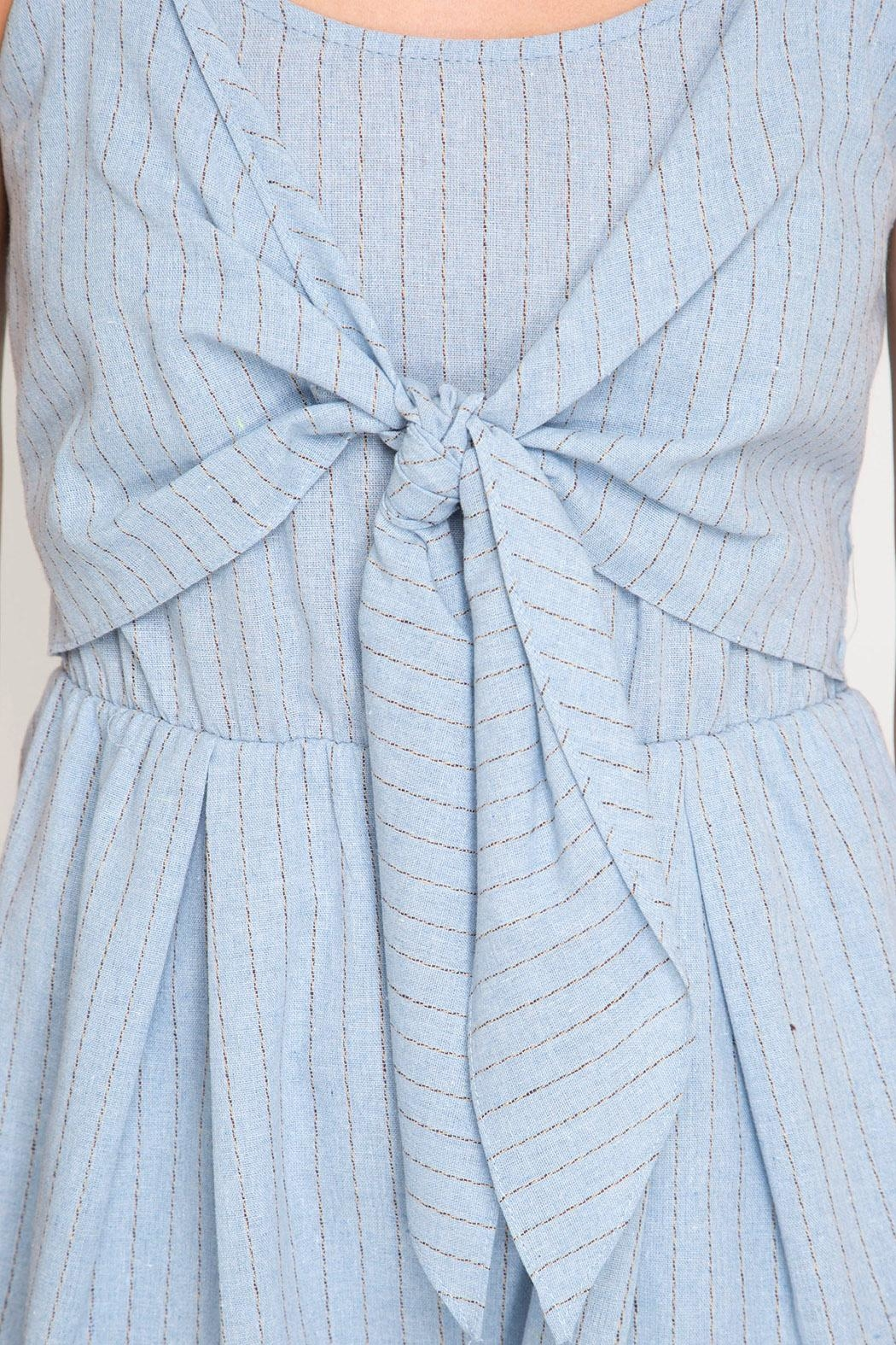 She + Sky Front Tie Romper - Back Cropped Image