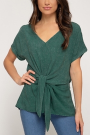 She + Sky Front Tie Tee - Product Mini Image