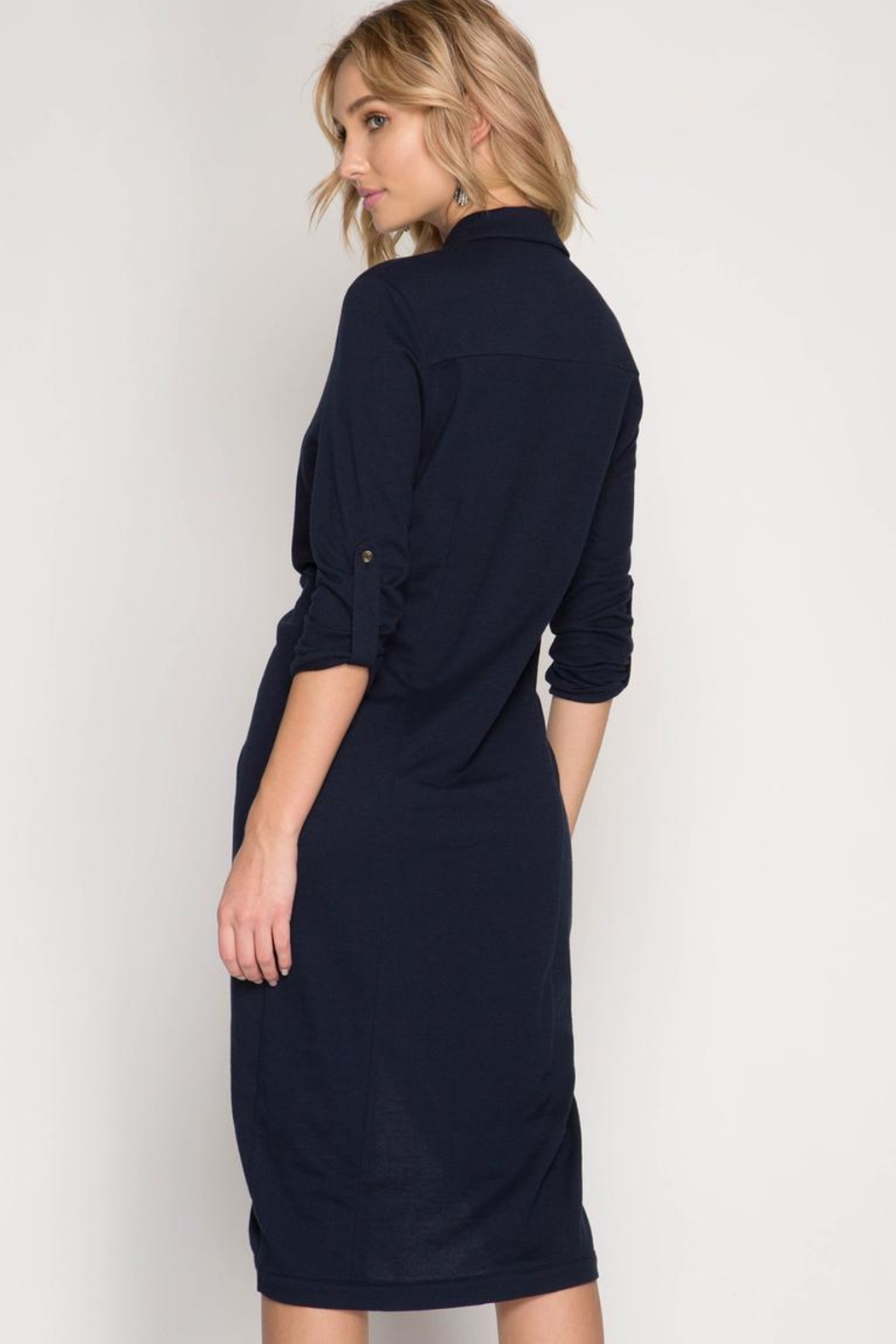She + Sky Front Twist Dress - Front Full Image