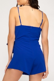 She + Sky Front Wrap Romper - Side cropped