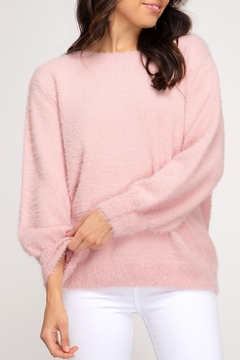 She + Sky Fuzzy Knit Sweater - Product List Image