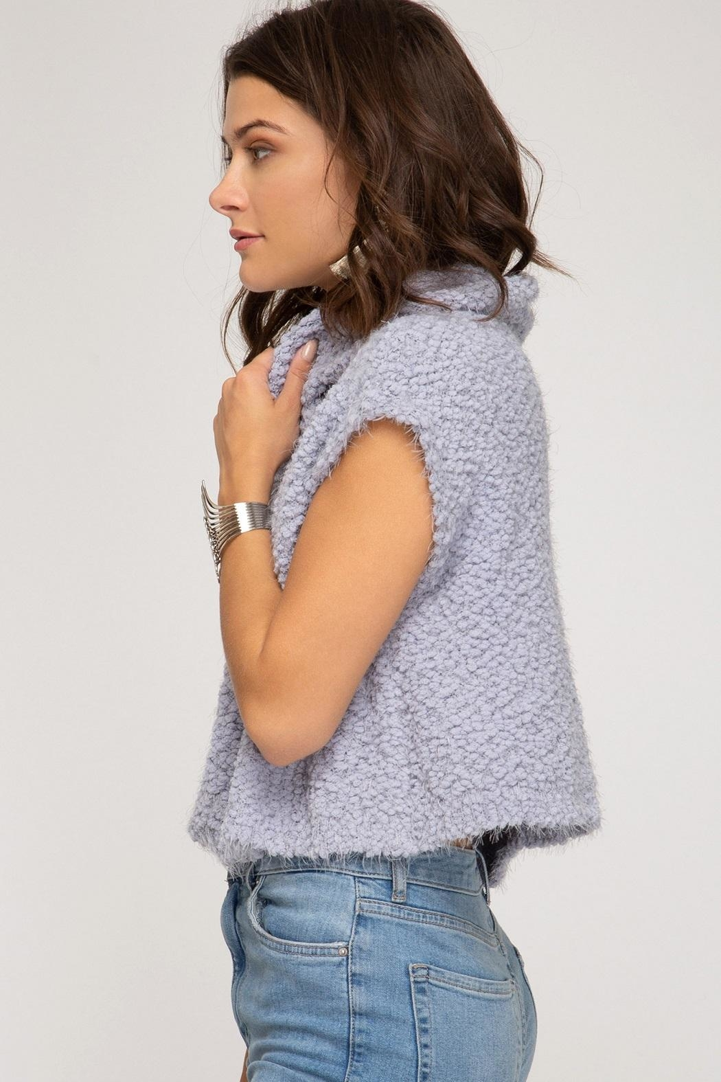 She + Sky Galaxy Sweater - Side Cropped Image