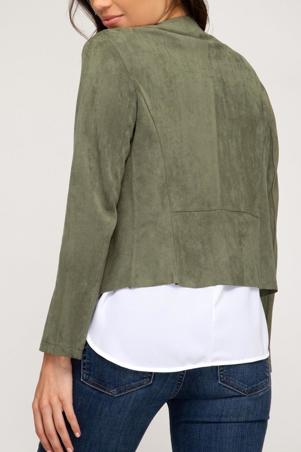 She + Sky Gale Jacket - Back Cropped Image