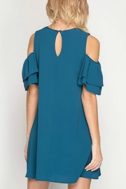 She + Sky Ginny Teal Dress - Front full body