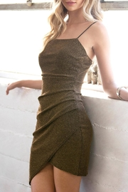 She + Sky Gold Lurex Dress - Front cropped