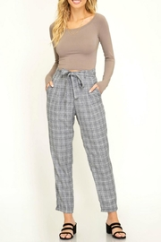 She + Sky Grid Print Trousers - Product Mini Image