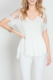 She + Sky Half Sleeve Top - Product Mini Image