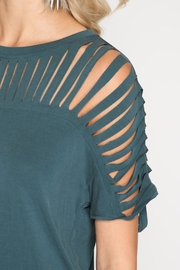 She + Sky Harper Top Teal - Side cropped