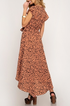 She + Sky Hi-Lo Leoprad Dress - Alternate List Image