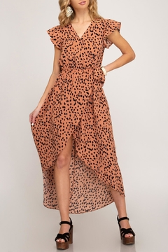 She + Sky Hi-Lo Leoprad Dress - Product List Image