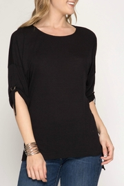 She + Sky Hi- Low Shirt - Front cropped