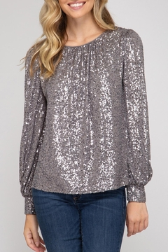 Shoptiques Product: Hide & Sequin Top