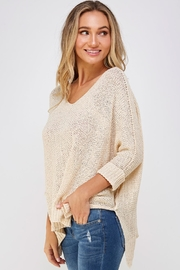 She + Sky High-Lo Knit Sweater - Side cropped
