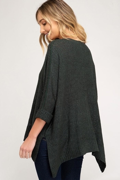 She + Sky High-Lo Knitted Sweater - Alternate List Image