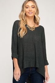 She + Sky High-Lo Knitted Sweater - Product Mini Image