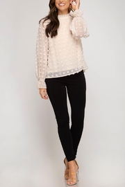 She + Sky High Neck Blouse - Front cropped