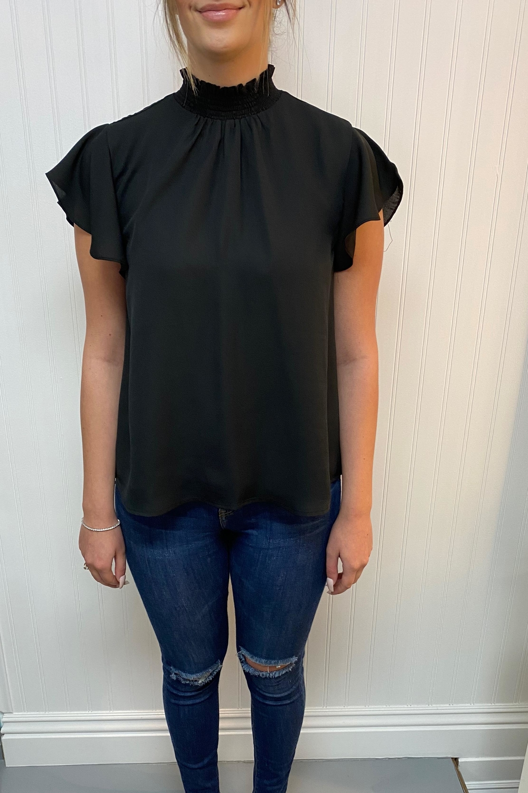 She + Sky High Neck Blouse - Main Image