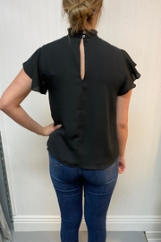 She + Sky High Neck Blouse - Front full body